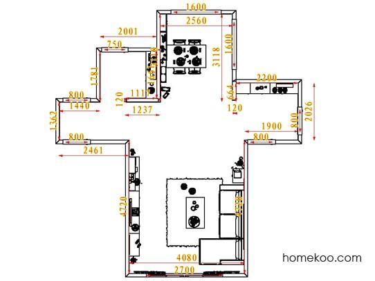 平面布置图贝斯特系列客餐厅G1662