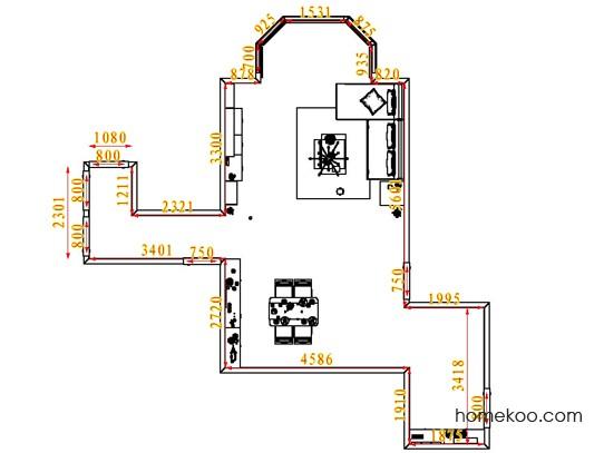 平面布置图德丽卡系列客餐厅G1668