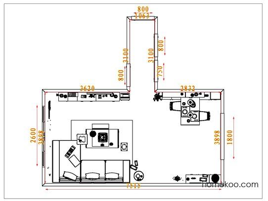 平面布置图柏俪兹系列客餐厅G1677