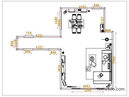 平面布置图柏俪兹系列客餐厅G1680