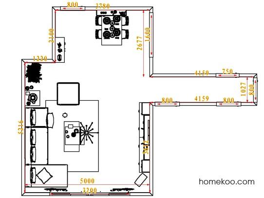 平面布置图德丽卡系列客餐厅G1686