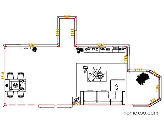 平面布置图柏俪兹系列客餐厅G1687