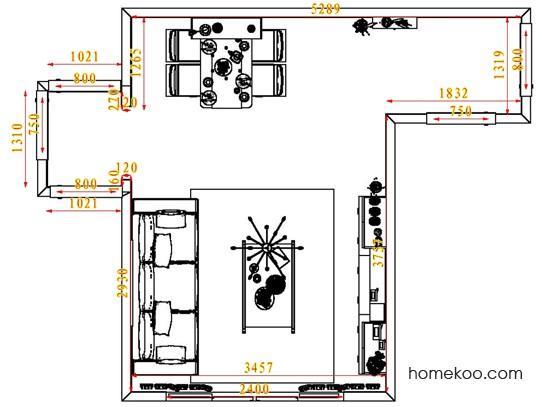 平面布置图柏俪兹系列客餐厅G1689
