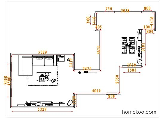 平面布置图斯玛特系列客餐厅G1708