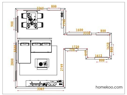 平面布置图斯玛特系列客餐厅G1711