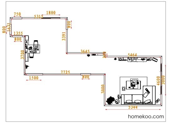 平面布置图斯玛特系列客餐厅G1712
