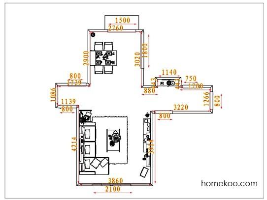平面布置图斯玛特系列客餐厅G1713