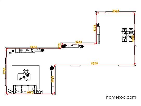 平面布置图斯玛特系列客餐厅G1717