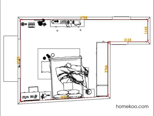 平面布置图柏俪兹系列卧房A6512