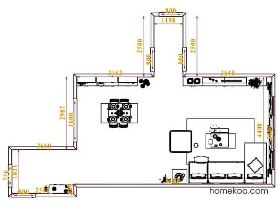 平面布置图贝斯特系列客餐厅G1723