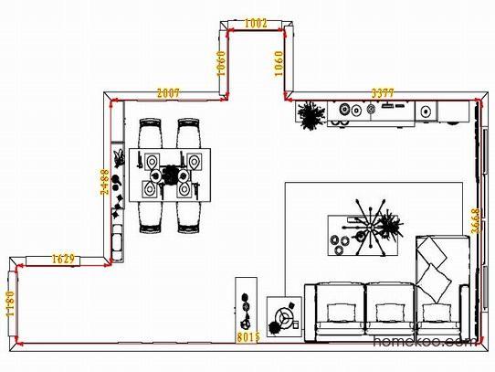 平面布置图柏俪兹系列客餐厅G1725