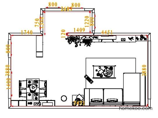 平面布置图德丽卡系列客餐厅G1730