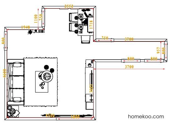 平面布置图柏俪兹系列客餐厅G1734
