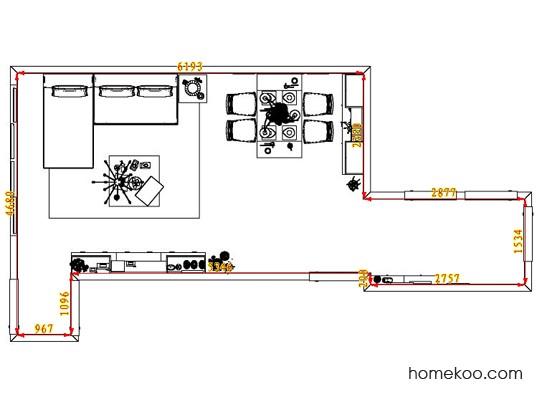 平面布置图乐维斯系列客餐厅G1737