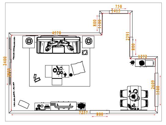 平面布置图贝斯特系列客餐厅G1770