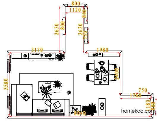 平面布置图乐维斯系列客餐厅G1752