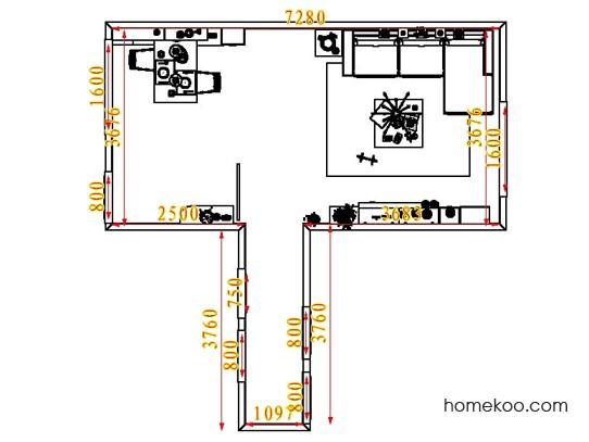 平面布置图格瑞丝系列客餐厅G1758