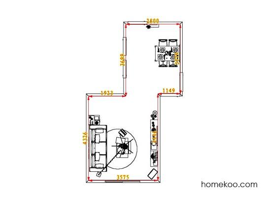 平面布置图乐维斯系列客餐厅G1765