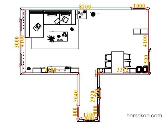 平面布置图贝斯特系列客餐厅G1780
