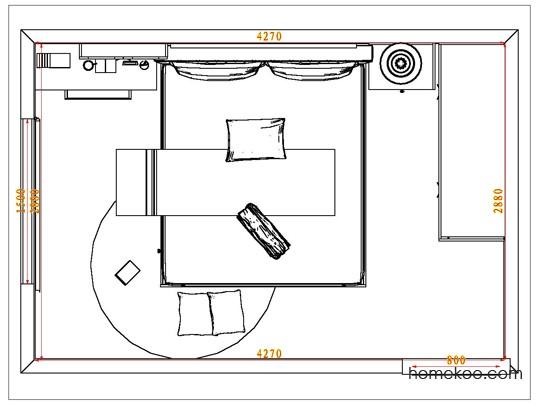 平面布置图斯玛特系列卧房A6567