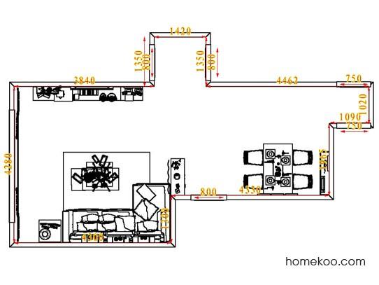 平面布置图贝斯特系列客餐厅G1801