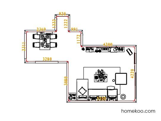平面布置图柏俪兹系列客餐厅G1803