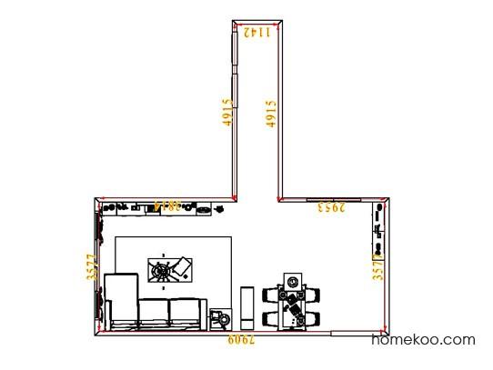 平面布置图柏俪兹系列客餐厅G1804