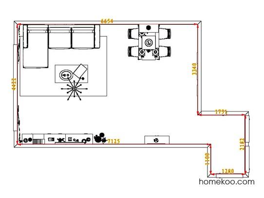 平面布置图柏俪兹系列客餐厅G1806