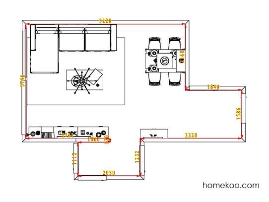 平面布置图斯玛特系列客餐厅G1807
