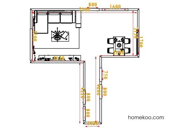 平面布置图斯玛特系列客餐厅G1813