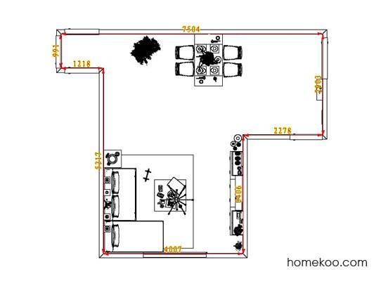 平面布置图德丽卡系列客餐厅G1823