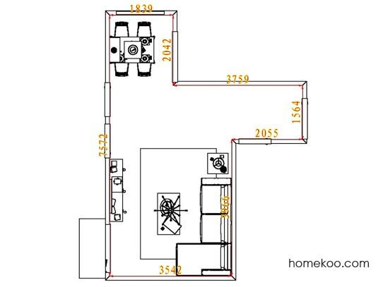 平面布置图德丽卡系列客餐厅G1843