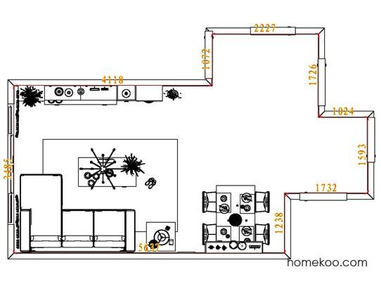 平面布置图德丽卡系列客餐厅G1846