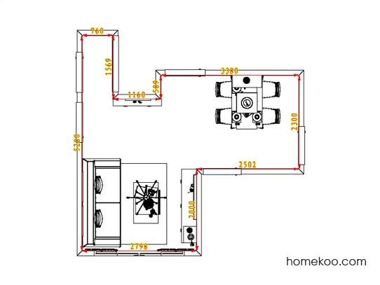 平面布置图斯玛特系列客餐厅G1854