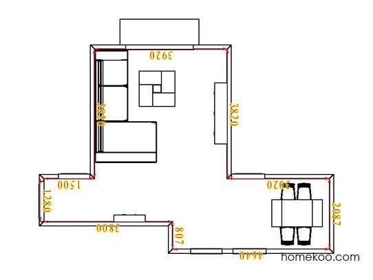 平面布置图贝斯特系列客餐厅G1857