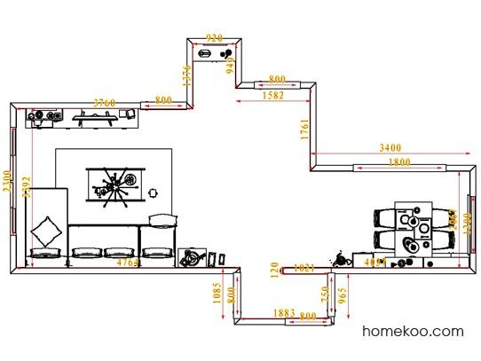 平面布置图斯玛特系列客餐厅G1864