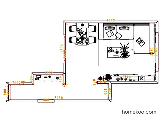 平面布置图格瑞丝系列客餐厅G1866