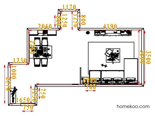 平面布置图乐维斯系列客餐厅G1875