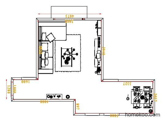 平面布置图德丽卡系列客餐厅G1879