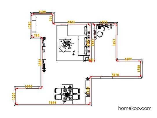 平面布置图格瑞丝系列客餐厅G1884