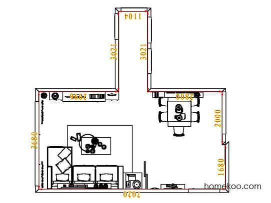 平面布置图格瑞丝系列客餐厅G1897