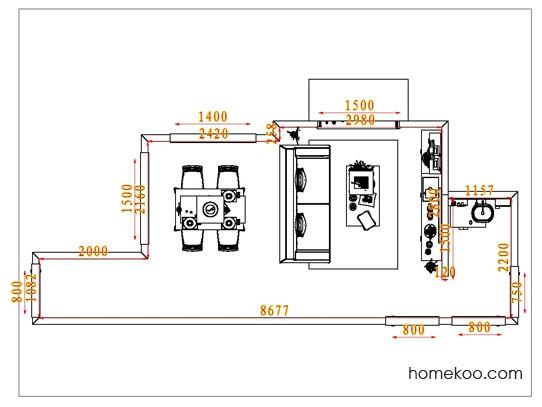 平面布置图斯玛特系列客餐厅G1900