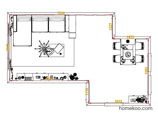 平面布置图德丽卡系列客餐厅G1905