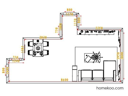 平面布置图格瑞丝系列客餐厅G1914
