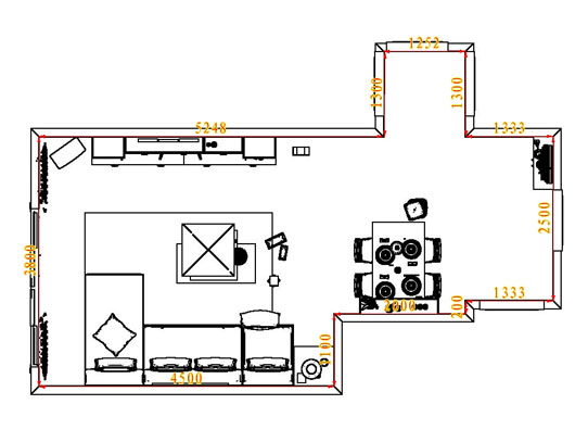 平面布置图柏俪兹系列客餐厅G6608