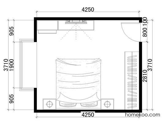 平面布置图乐维斯系列卧房A1060