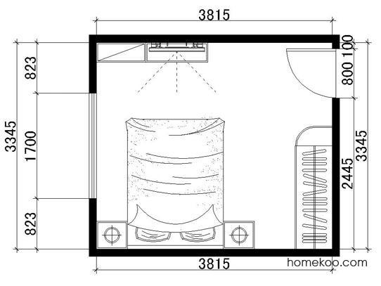 平面布置图柏俪兹系列卧房A1108