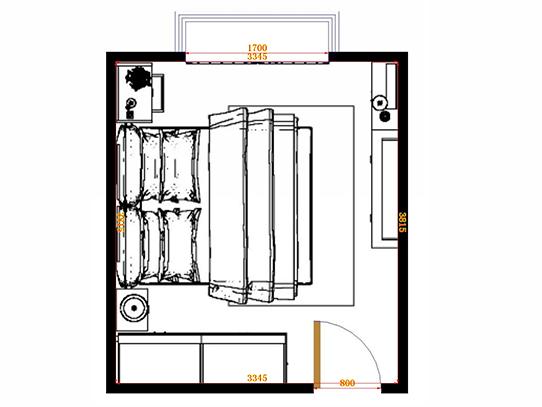 平面布置图柏俪兹系列卧房A1172