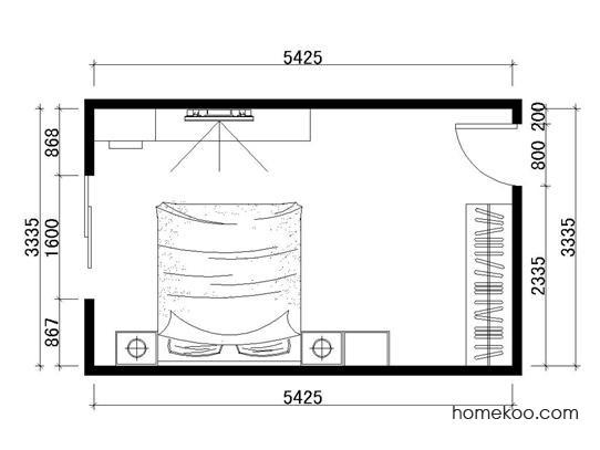 平面布置图格瑞丝系列卧房A1197