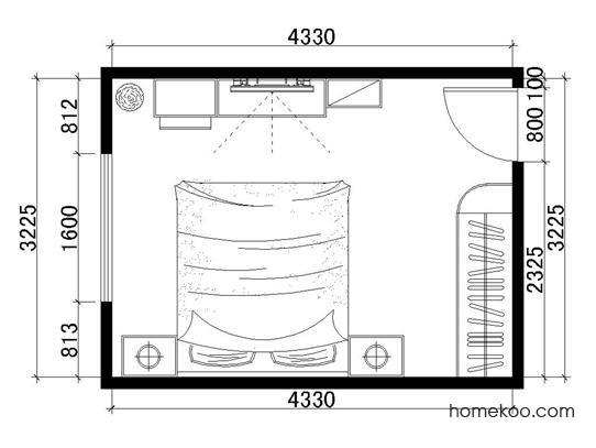 平面布置图德丽卡系列卧房A1282